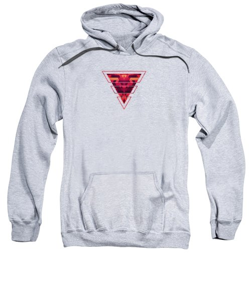 Abstract Red Geometric Triangle Texture Pattern Design Digital Futrure  Hipster  Fashion Sweatshirt