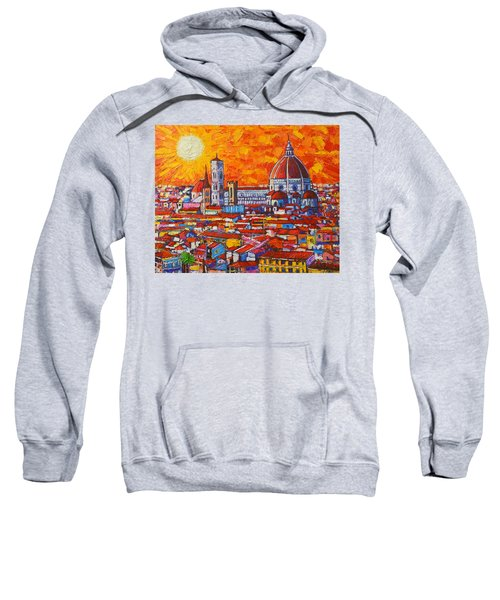 Abstract Sunset Over Duomo In Florence Italy Sweatshirt