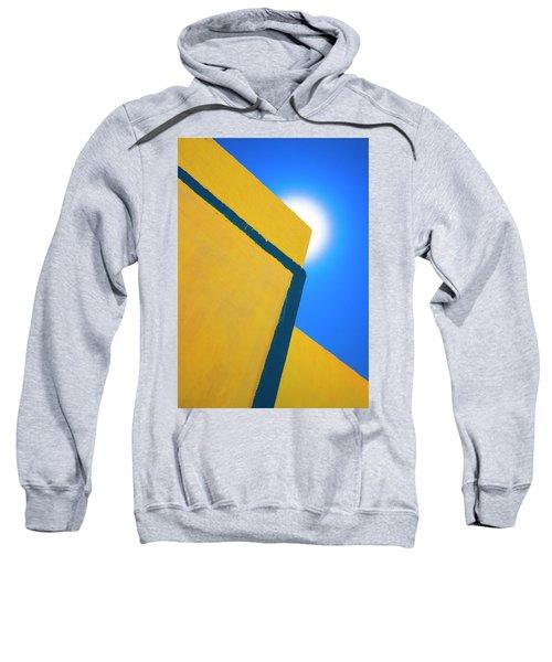 Abstract Yellow And Blue Sweatshirt