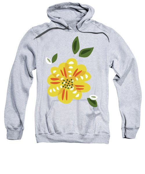 Abstract Yellow Primrose Flower Sweatshirt