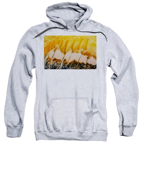Abstract Yellow, White Waves And Sails Sweatshirt