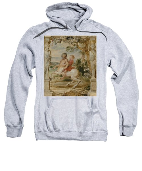 Achilles Educated By The Centaur Chiron Sweatshirt