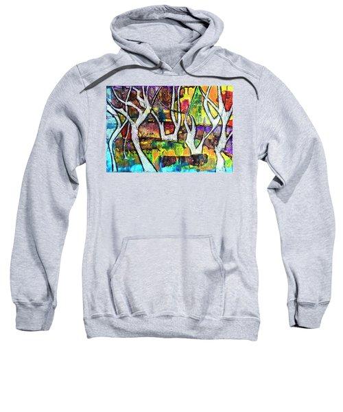 Acrylic Forest  Sweatshirt
