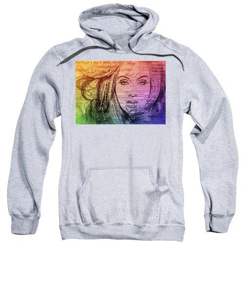 Adele Hello Typography  Sweatshirt by Dan Sproul