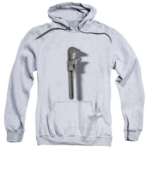 Adjustable Wrench Backside In Bw Sweatshirt
