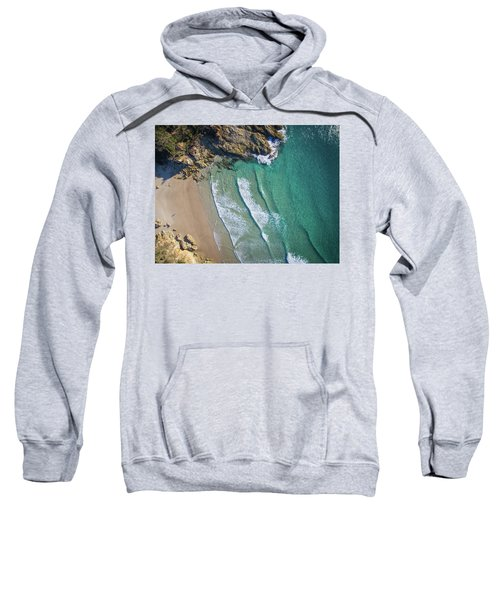 Aerial Shot Of Honeymoon Bay On Moreton Island Sweatshirt