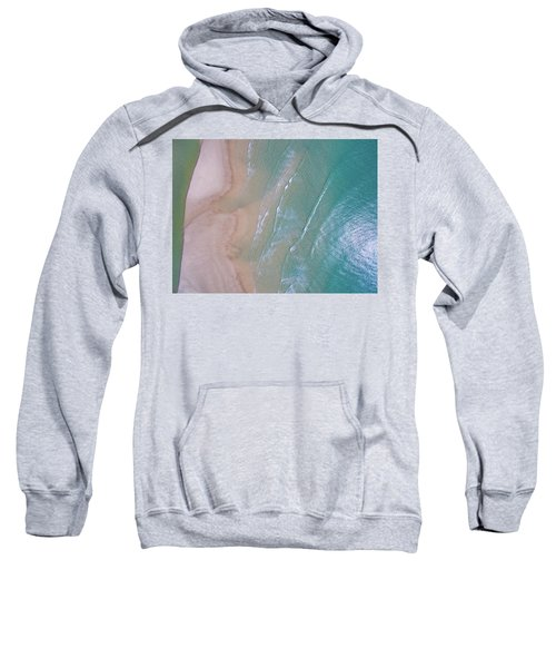 Aerial View Of Beach And Wave Patterns Sweatshirt