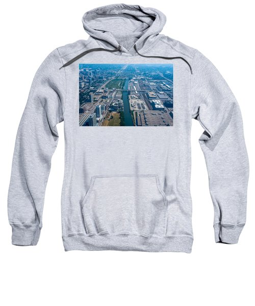 Aerial View Of Chicago City, Illinois Sweatshirt