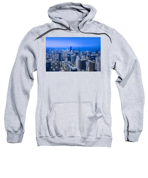 Chicago Skyline Aerial View  Sweatshirt
