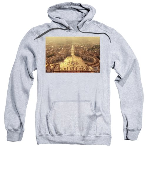 Aerial View Of St Peter's Square Sweatshirt