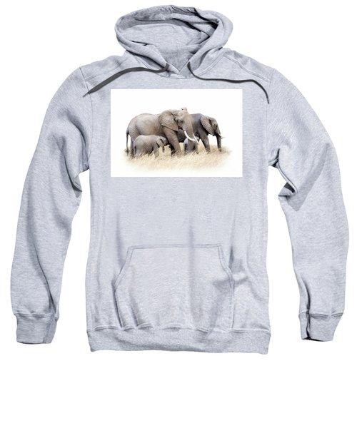 African Elephant Group Isolated Sweatshirt