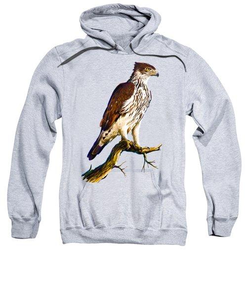 African Hawk Eagle Sweatshirt by Anthony Mwangi