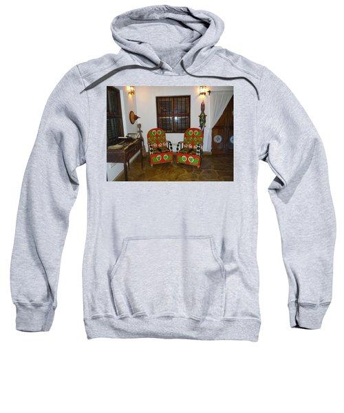 African Interior Design 5 Beaded Chairs Sweatshirt by Exploramum Exploramum