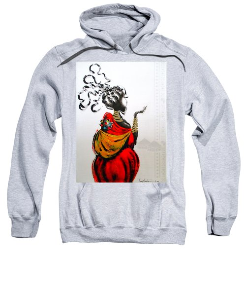 African Lady And Baby Sweatshirt