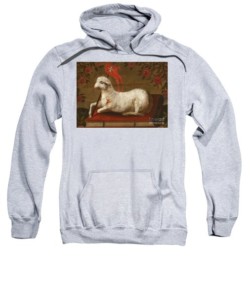 Agnus Dei With Banner Of The Order Of St John  Sweatshirt
