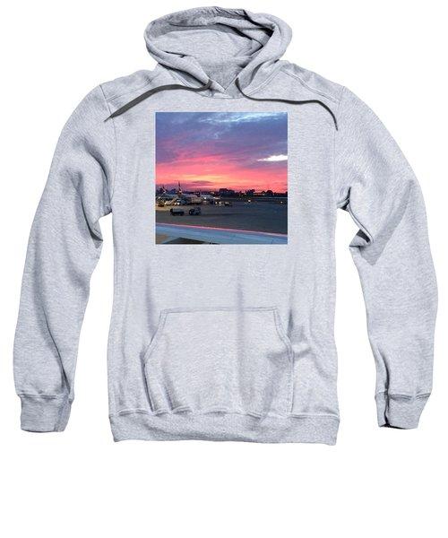 London City Airport Sunset Sweatshirt by Patsy Jawo