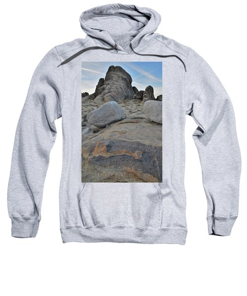 Alabama Hills Boulders At Dusk Sweatshirt