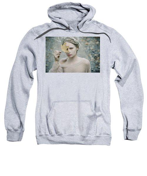 Albino In Forest. Prickle Tenderness Sweatshirt