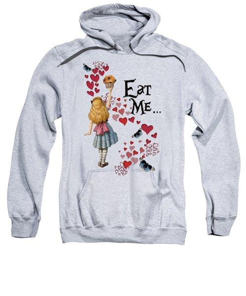Alice In The Wonderland Eat Me Muffin  Sweatshirt