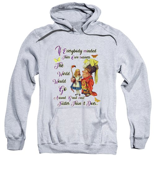 Alice With The Duchess Vintage Dictionary Art Sweatshirt by Jacob Kuch