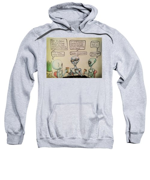 Alien Friends Coffee Talk About Cellular Sweatshirt
