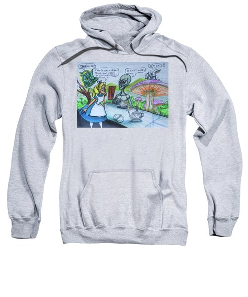 Alien In Wonderland Sweatshirt