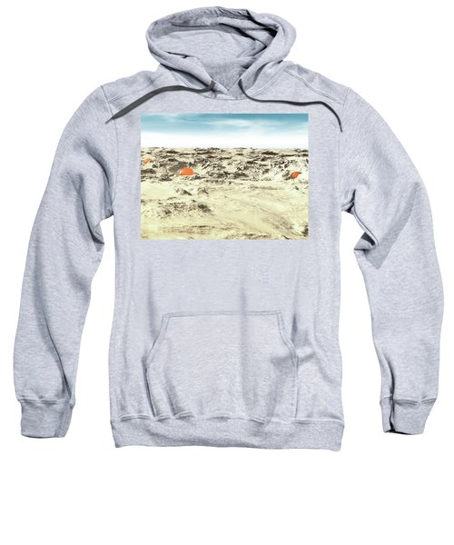 Alien Pods In Desert Sweatshirt