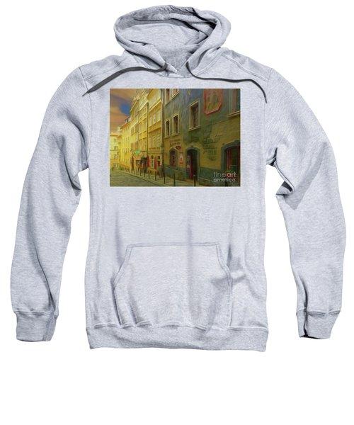 All Downhill From Here - Prague Street Scene Sweatshirt