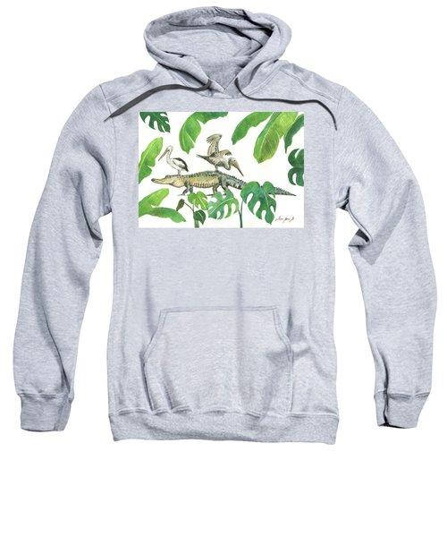 Alligator And Pelicans Sweatshirt