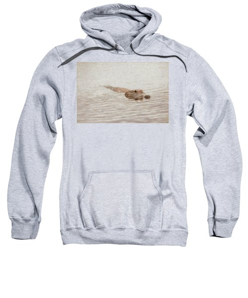 Alligator Waiting In The Water Sweatshirt