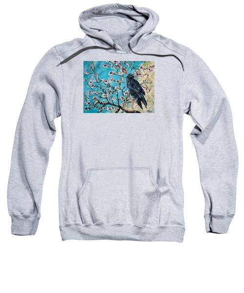 Almond Branch And Raven Sweatshirt