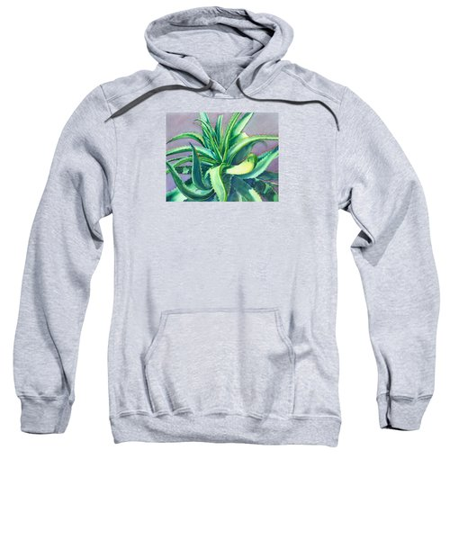 Aloe Vera Watercolor Sweatshirt
