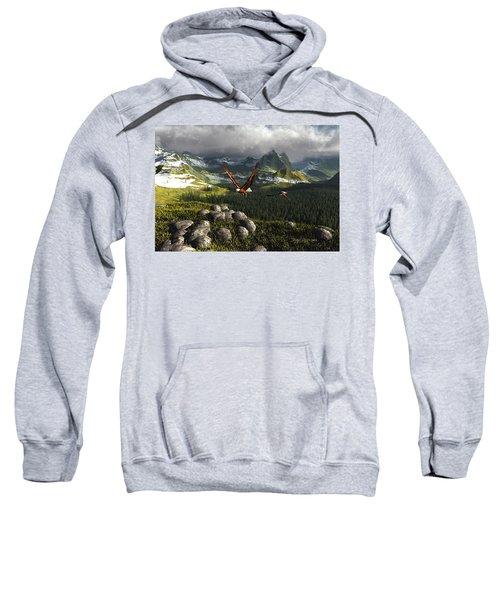 Along The Pinnacles Of Time Sweatshirt