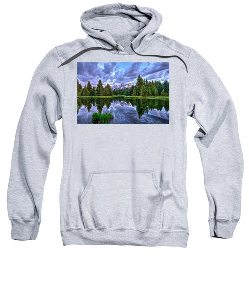 Alpenglow In The Tetons Sweatshirt