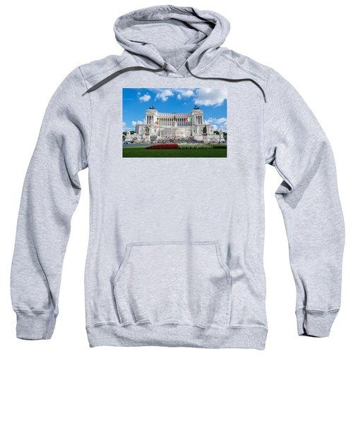 Altare Della Patria-3344 Sweatshirt by Alex Ursache
