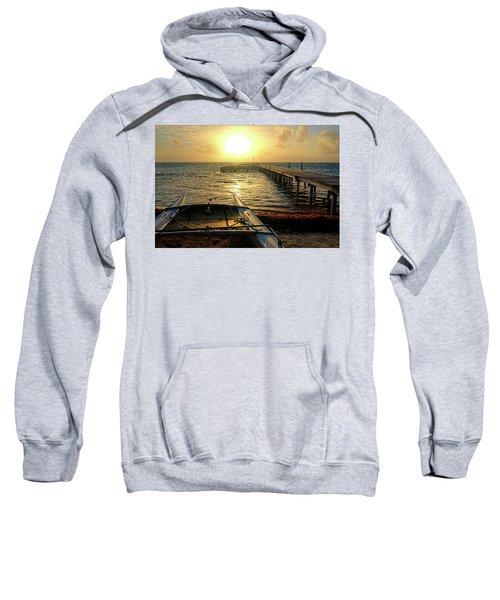 Ambergris Sunrise Schooner San Pedro Belize Sweatshirt