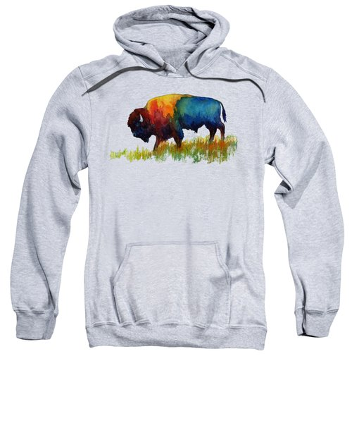 American Buffalo IIi Sweatshirt by Hailey E Herrera