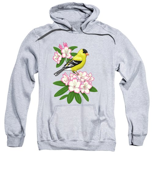 American Goldfinch And Coast Rhododendron Sweatshirt