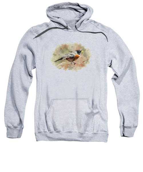American Robin - Watercolor Art Sweatshirt