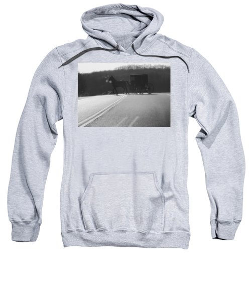 Amish Horse And Buggy In Winter Sweatshirt