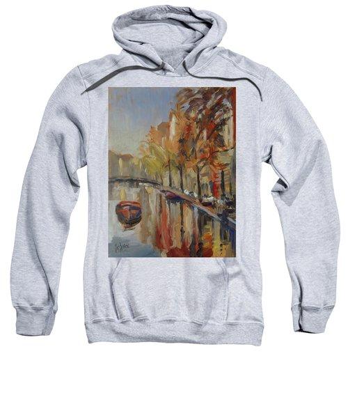 Amsterdam Autumn With Boat Sweatshirt