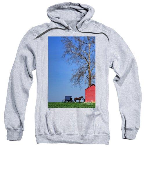 An Amish Scene Sweatshirt