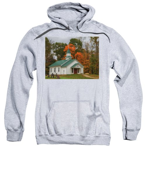An Old Ohio Country Church In Fall Sweatshirt