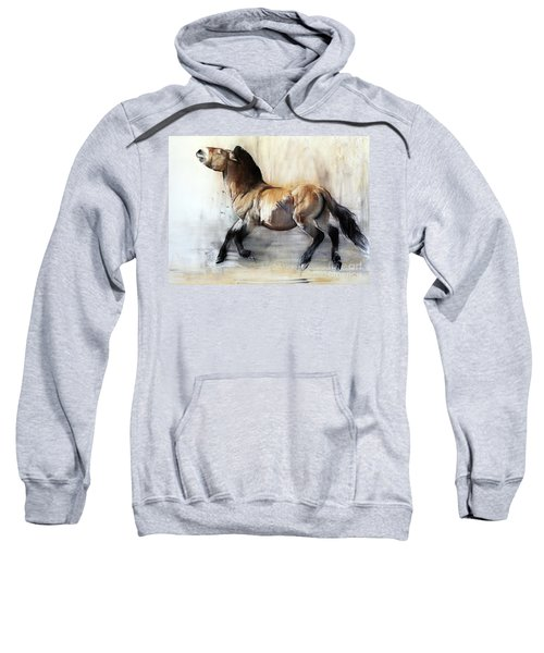 Ancient Horse Przewalski In Winter Sweatshirt