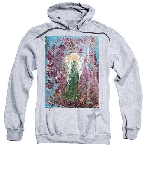 Angel Draped In Hydrangeas Sweatshirt