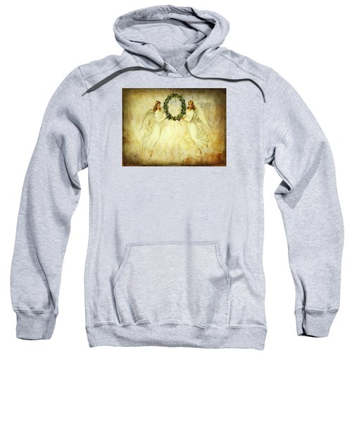 Angels Christmas Card Or Print Sweatshirt by Bellesouth Studio