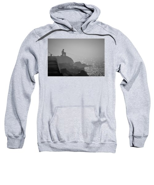 Angling In A Fog  Sweatshirt by Bill Pevlor