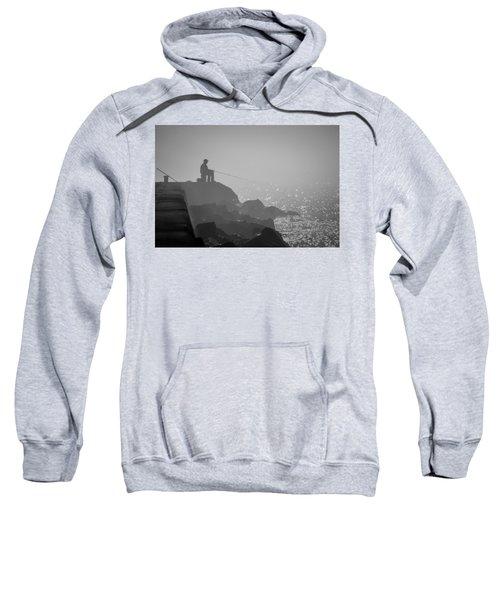 Angling In A Fog  Sweatshirt