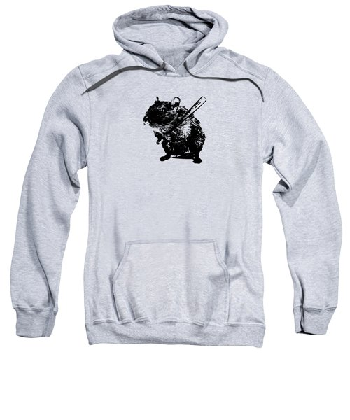Angry Street Art Mouse  Hamster Baseball Edit  Sweatshirt by Philipp Rietz