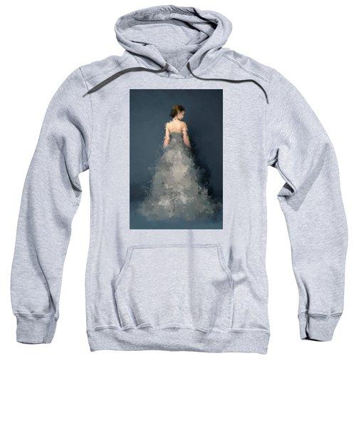 Sweatshirt featuring the digital art Anna by Nancy Levan